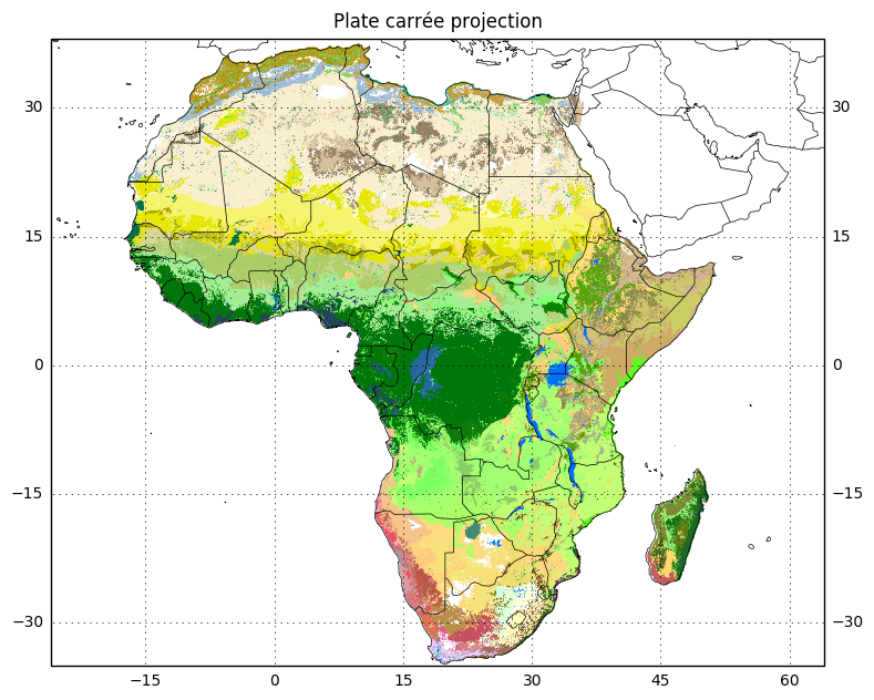 Plotting African ecosystems