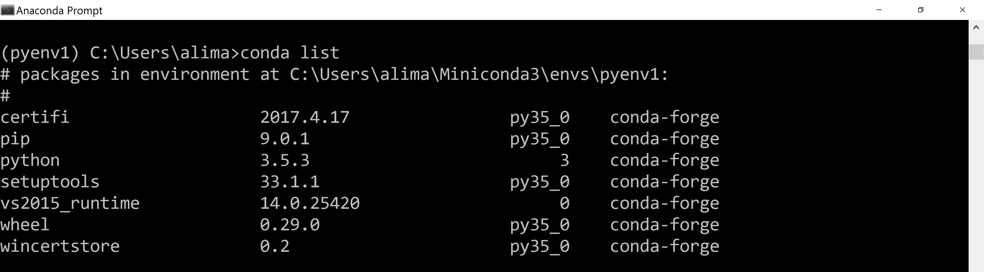 install pandas anaconda linux